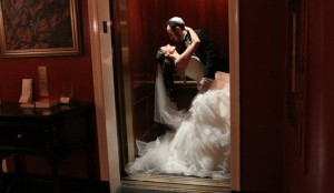 A Line Beading Strapless Ruffle Tulle Wedding Dress