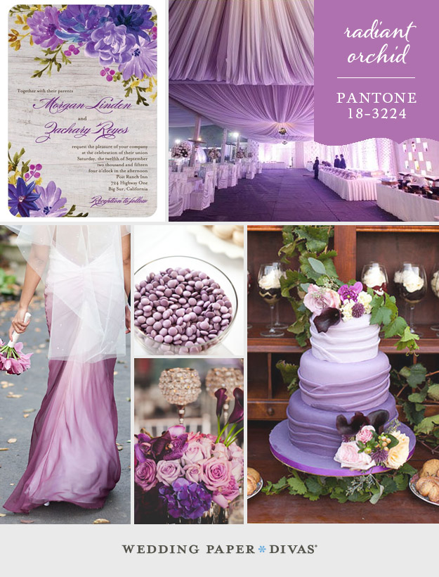 Radiant Orchid wedding theme