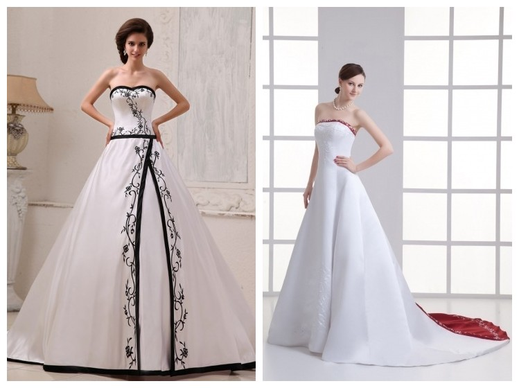 buy cheap embroidery wedding dresses UK online