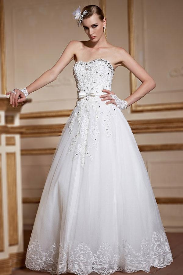 sweetheart long wedding dress